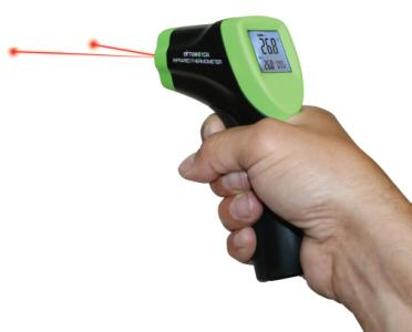 Elma 610A Infrared thermometer with double lasersight.