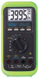 Elma 805 - Digital multimeter, with protective casing.
