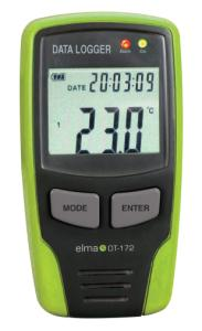Elma DT-172 temperature and moist data logger with display